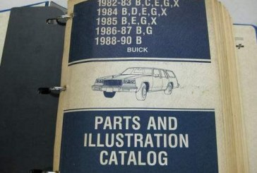 GM Buick Parts Catalog Books