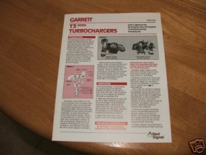 garrett T3 turbocharger users manual 1987