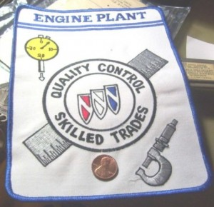 BUICK ENGINE PLANT QUALITY CONTROL SKILLED TRADES PATCH
