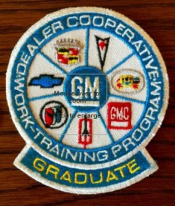 GM WORK-TRAINING program patch