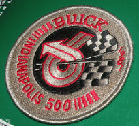 gold indy 500 buick patch
