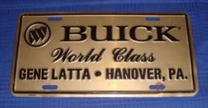 Gene Latta World Class Buick dealer plate