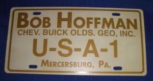 bob hoffman buick dealer license plate