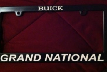 License Plate Frames for Turbo Buicks