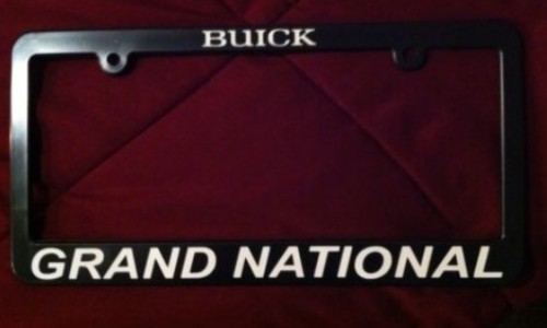 buick grand national plastic license plate frame