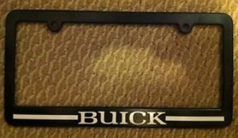 buick name license plate frame