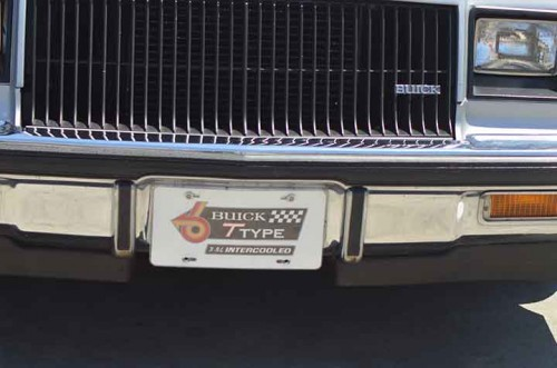 buick t-type intercooled license plate