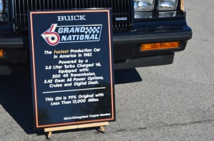 1987 buick grand national car show display sign
