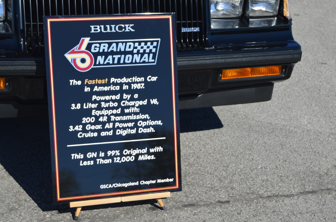 Buick Car Show Signs Seen In Bowling Green - Car show signs