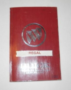 1991 BUICK REGAL OWNERS MANUAL