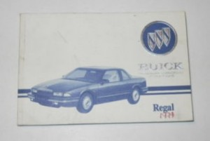 1994 BUICK REGAL OWNERS MANUAL