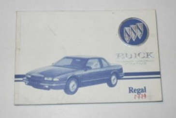1990's Buick Regal Owners Manuals