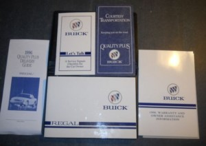 1996 BUICK REGAL OWNER'S MANUAL  AND SUPPLEMENT PACKAGE