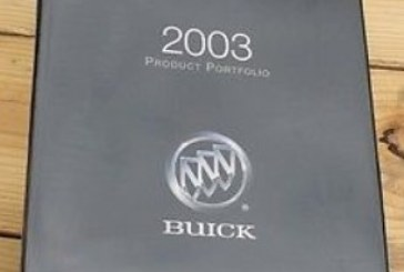 Buick Product Portfolio Dealer Binder (2001-2005)