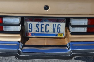 9 second v6 buick license plate