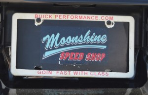 buick performance license plate frame