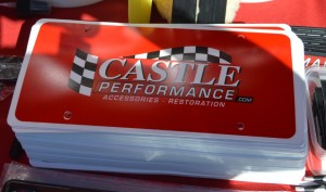 castle performance license plate