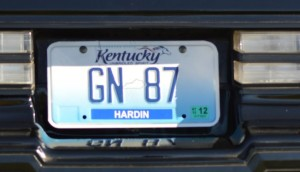 gn 87 license plate