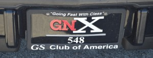 gnx 548 license plate