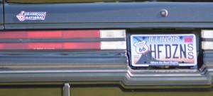 half dozen vanity license plate