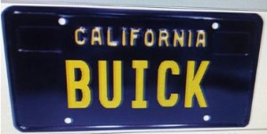 new California Retro plate buick