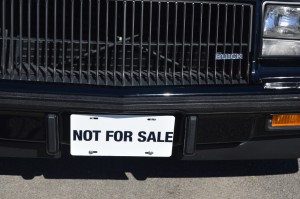not for sale license plate