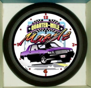 quarter mile buick muscle clock