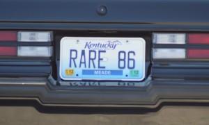rare 86 vanity plate