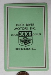 rock river motors buick dealer playing card