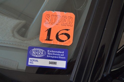 super 16 nhra inspected decal