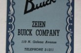 Buick Dealer Playing Cards
