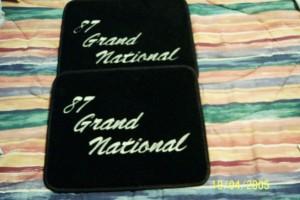 87 grand national floor mats