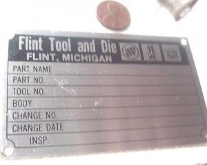 BOC Flint Tool & Die Plaque