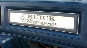 Buick Motorsports dash plaque