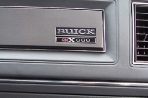 buick gnx dash plate
