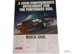 buick gnx investment poster
