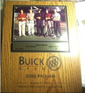 buick open golf plaque
