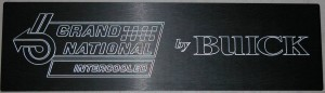 custom engraved dash plaque