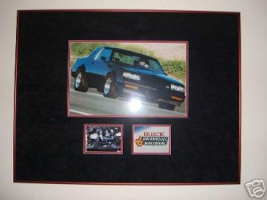 custom framed buick poster