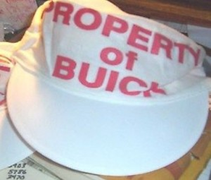 property of buick painters hat