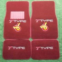 red BUICK T TYPE LOGO CUSTOM FLOOR MATS