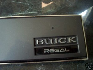 buick regal dash plaque