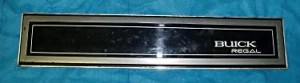 1987 buick regal dash plate