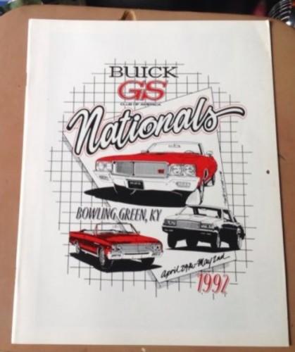 1992 Buick GS Club Calendar