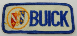 Buick Embroidered Patch Blue Letters