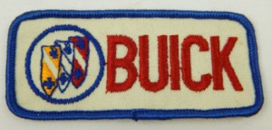 Buick Embroidered Patch Red Letters