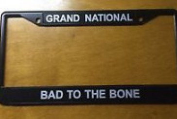 Buick Grand National License Plate Frames