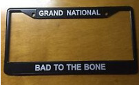 buick grand national bad to the bone license plate frame