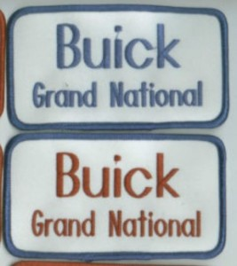 buick grand national name patches