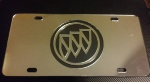 buick triple shield cutout license plate